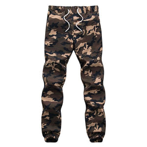 Men Crotch Camouflage Pants - Khaki / XS - HIS.BOUTIQUE