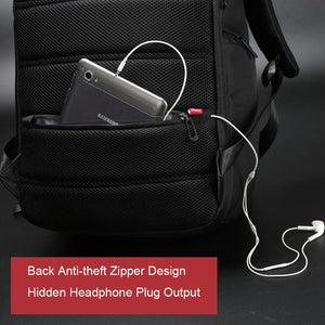 Laptop Backpack With External USB Charge -  - HIS.BOUTIQUE