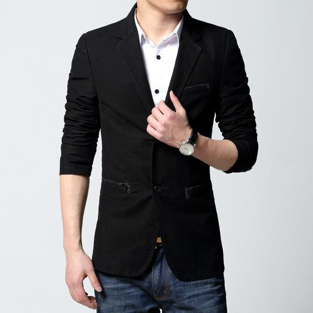 Two Buttons Sports Blazer - Black / XS - HIS.BOUTIQUE