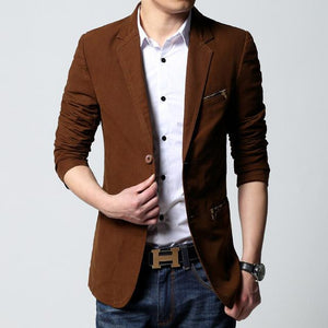 Two Buttons Sports Blazer - Brown / XS - HIS.BOUTIQUE