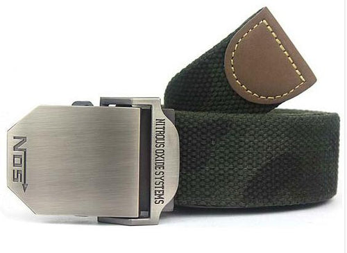 Military Canvas Belt - Camouflage / 110cm- Belt -HIS.BOUTIQUE