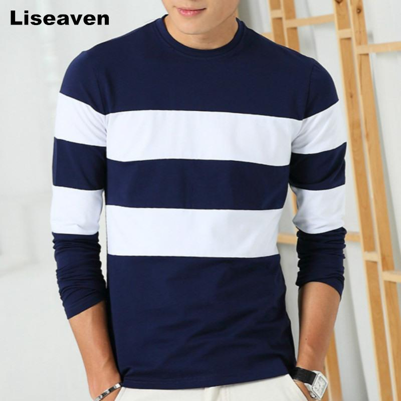 Striped Long Sleeve T Shirt - - T-Shirt -HIS.BOUTIQUE