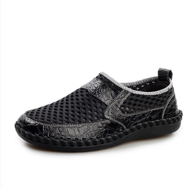 Mesh Bonded Casual Shoe - black / 6.5- Footwear -HIS.BOUTIQUE