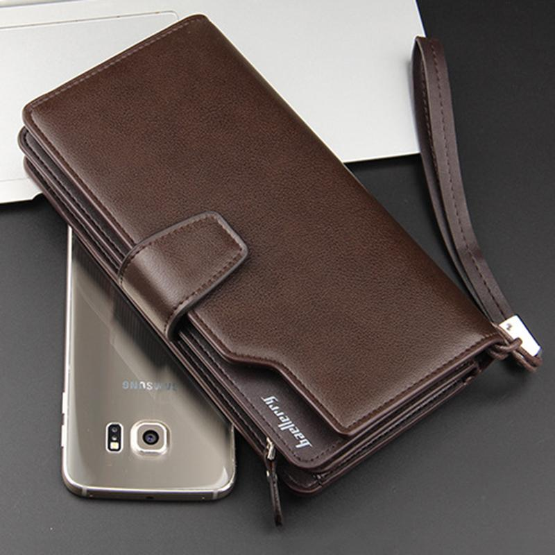 Leather Card Holder Wallet - Brown - HIS.BOUTIQUE