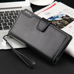 Leather Card Holder Wallet - Black - HIS.BOUTIQUE