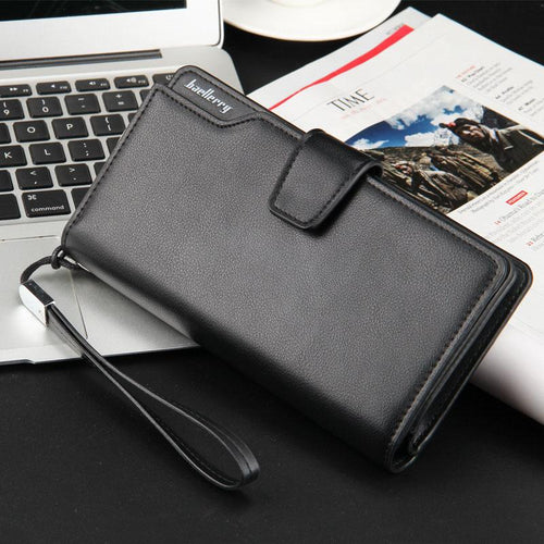 Leather Card Holder Wallet - Black- Handbags, Wallets & Cases -HIS.BOUTIQUE