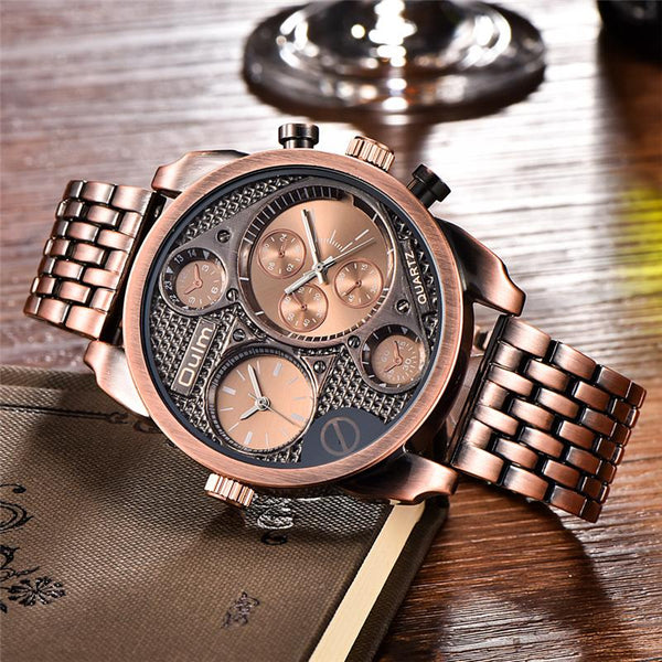 Oulm Antique Wristwatch - Rose- Watches -HIS.BOUTIQUE