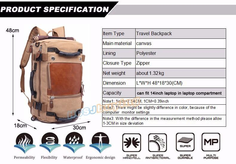Travel Large Capacity Backpack -  - HIS.BOUTIQUE