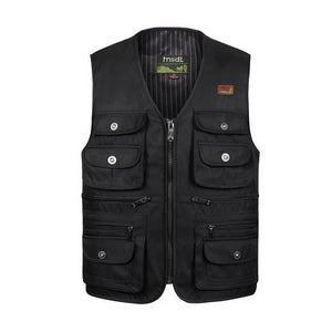 Multi-Pocket Tactical Vest - Black / S - HIS.BOUTIQUE