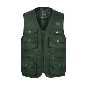 Multi-Pocket Tactical Vest - Green / S - HIS.BOUTIQUE