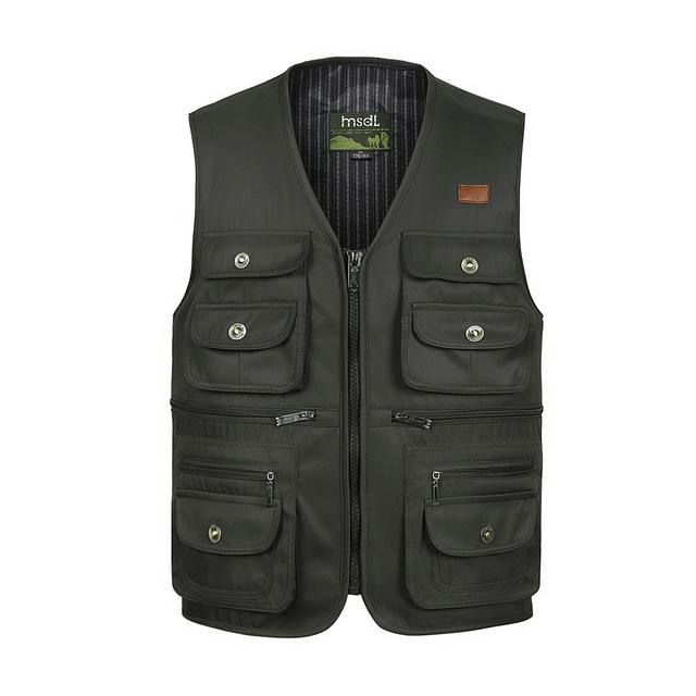 Multi-Pocket Tactical Vest - Army Green / S - HIS.BOUTIQUE