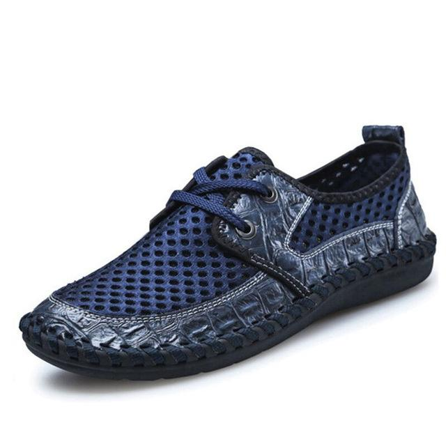 Mesh Bonded Casual Shoe - Lace dark blue / 6.5- Footwear -HIS.BOUTIQUE