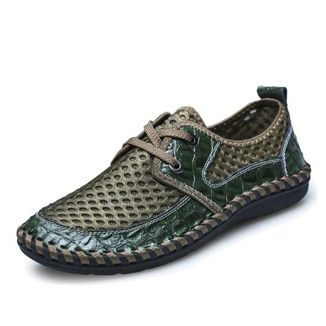 Mesh Bonded Casual Shoe - Lace green / 6.5- Footwear -HIS.BOUTIQUE