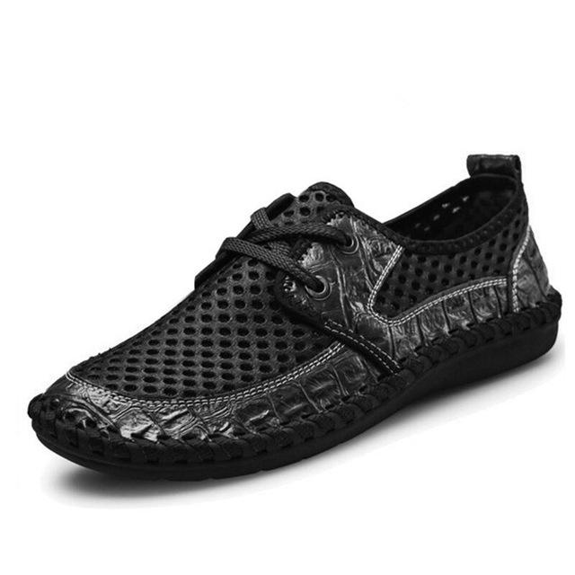 Mesh Bonded Casual Shoe - Lace Black / 6.5- Footwear -HIS.BOUTIQUE