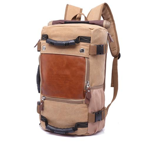 Travel Large Capacity Backpack - Khaki- Handbags, Wallets & Cases -HIS.BOUTIQUE