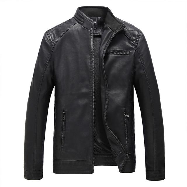 Motorcycle PU Leather Jacket - Black / XS - HIS.BOUTIQUE