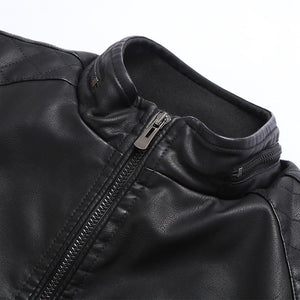 Motorcycle PU Leather Jacket -  - HIS.BOUTIQUE