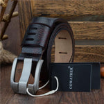 COWATHER Leather Belt - Coffee / 110cm - HIS.BOUTIQUE