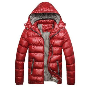 Thick Thermal Shiny Jacket - Red / XXS - HIS.BOUTIQUE