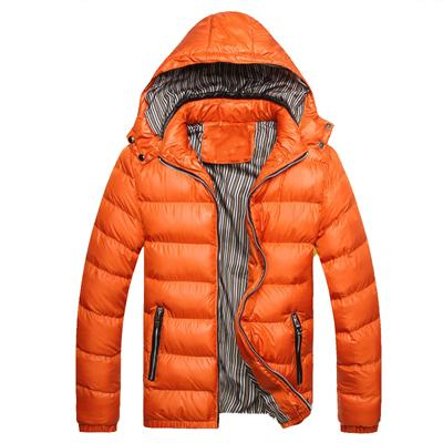 Thick Thermal Shiny Jacket - Orange / XXS - HIS.BOUTIQUE