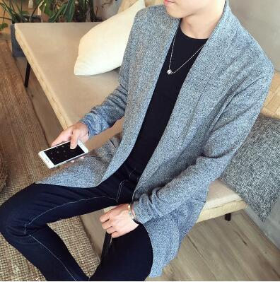 The Dustcoat Cardigan - Gray / XS - HIS.BOUTIQUE