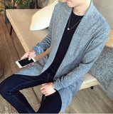 The Dustcoat Cardigan - Gray / XS- Cardigan -HIS.BOUTIQUE