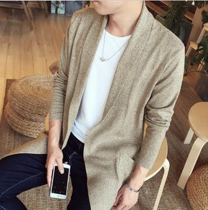 The Dustcoat Cardigan - Khaki / XS - HIS.BOUTIQUE
