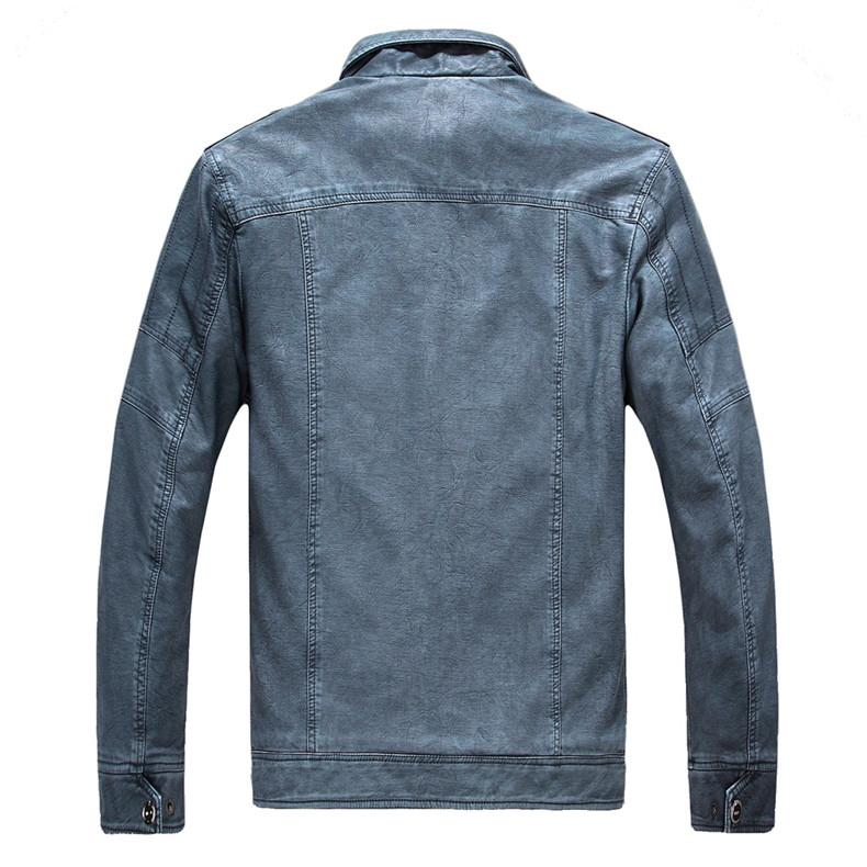 Excelled Synthetic Leather Jacket -  - HIS.BOUTIQUE
