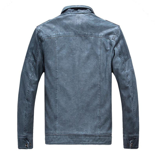 Excelled Synthetic Leather Jacket - - Jacket -HIS.BOUTIQUE