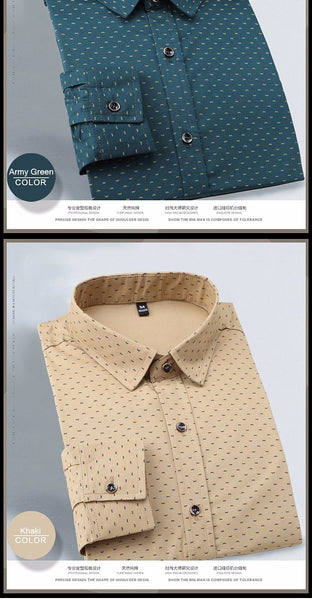 Polka Dot Dress Shirt - - Shirt -HIS.BOUTIQUE