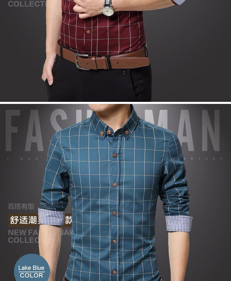Fashion Plaid Shirt - - Shirt -HIS.BOUTIQUE