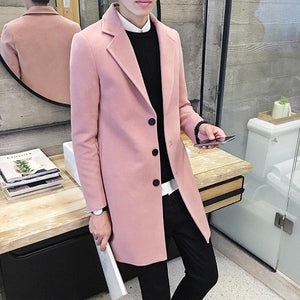 Woven Mac Coat - Pink / XS - HIS.BOUTIQUE