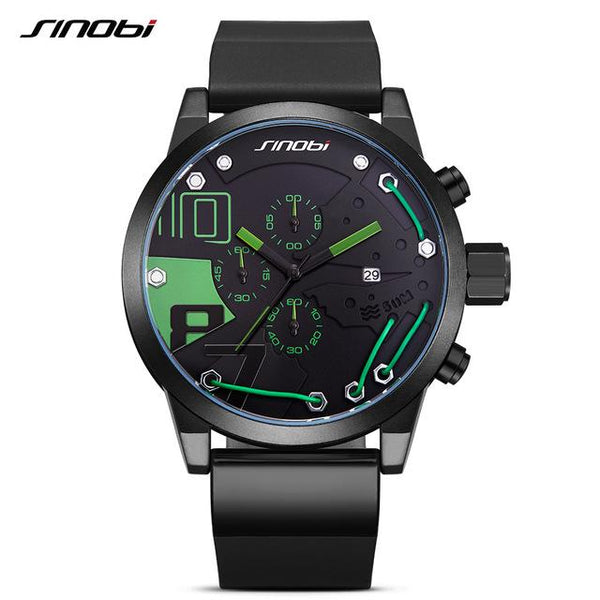Silicone Sports Watch - green- Watches -HIS.BOUTIQUE