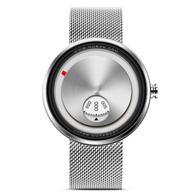 Milan Strap Wrist Watch - Silver - HIS.BOUTIQUE