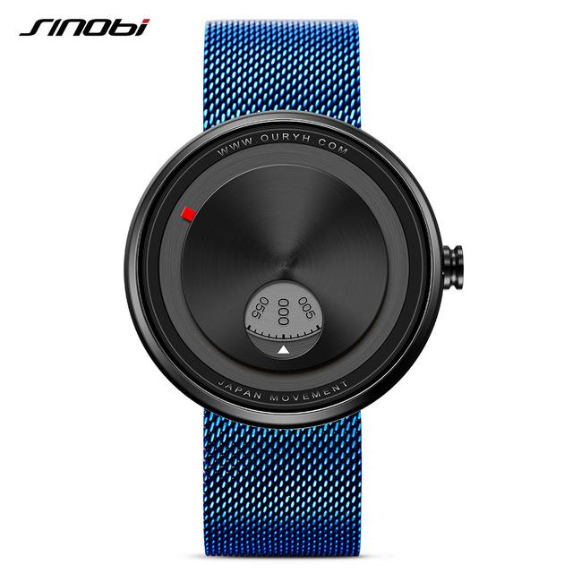 Milan Strap Wrist Watch - Blue - HIS.BOUTIQUE
