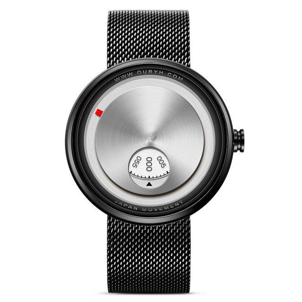 Milan Strap Wrist Watch - Black- Watches -HIS.BOUTIQUE
