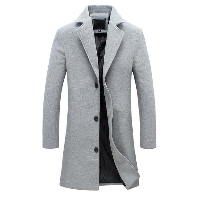 England Wool Coat - Grey / XS - HIS.BOUTIQUE