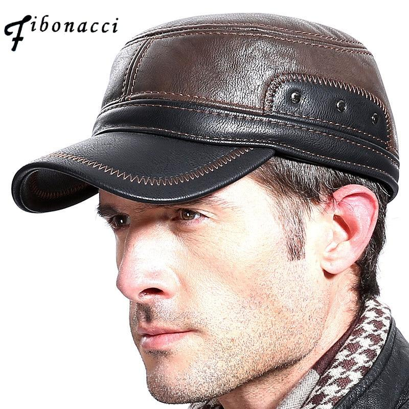 Leather Patchwork Cap -  - HIS.BOUTIQUE