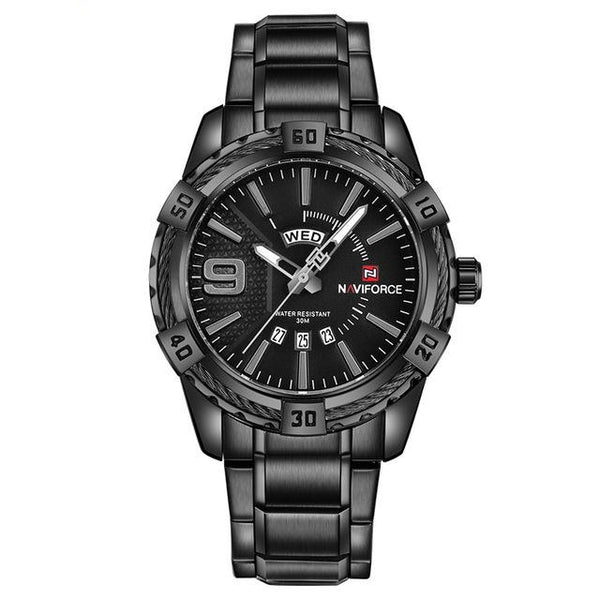 Rope Casual Watch - Black Gray- Watches -HIS.BOUTIQUE
