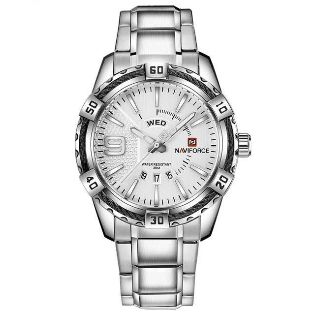 Rope Casual Watch - Silver White - HIS.BOUTIQUE