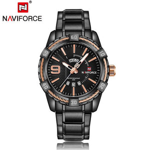 NAVIFORCE Hardlex Watch - Brown - HIS.BOUTIQUE