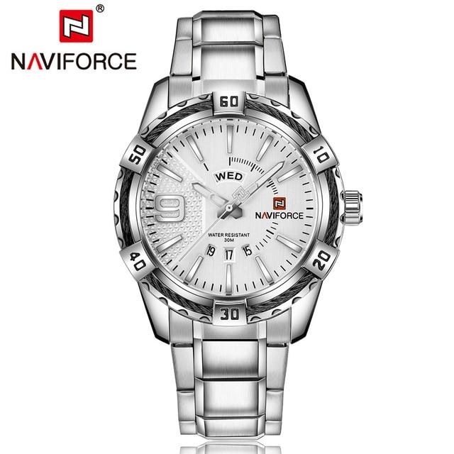 NAVIFORCE Hardlex Watch - White - HIS.BOUTIQUE