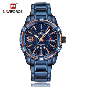 NAVIFORCE Hardlex Watch - Blue - HIS.BOUTIQUE