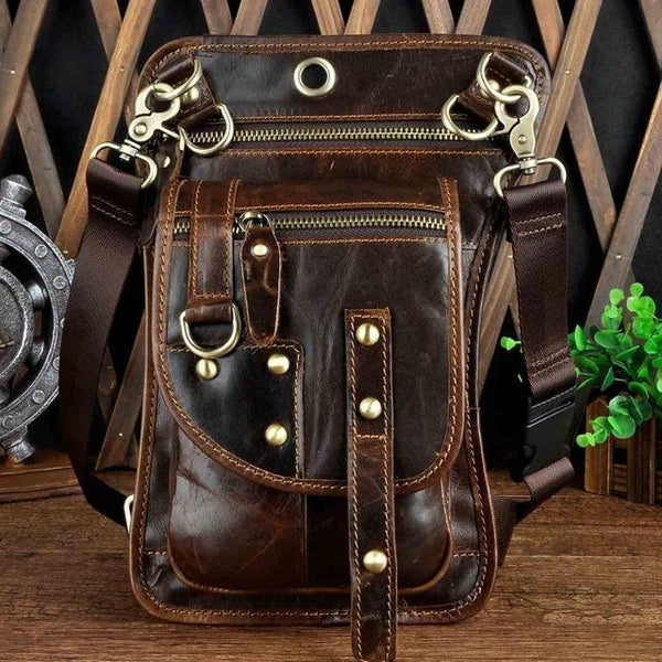 Multifunction Crossbody Messenger Bag - Coffee- Handbags, Wallets & Cases -HIS.BOUTIQUE