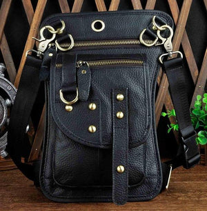 Multifunction Crossbody Messenger Bag - Black - HIS.BOUTIQUE