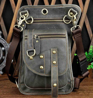 Multifunction Crossbody Messenger Bag - Gray - HIS.BOUTIQUE