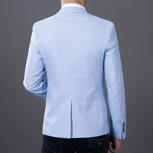 Solid Color Casual Blazer -  - HIS.BOUTIQUE