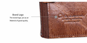 Cowhide Leather Men Wallet - - Handbags, Wallets & Cases -HIS.BOUTIQUE