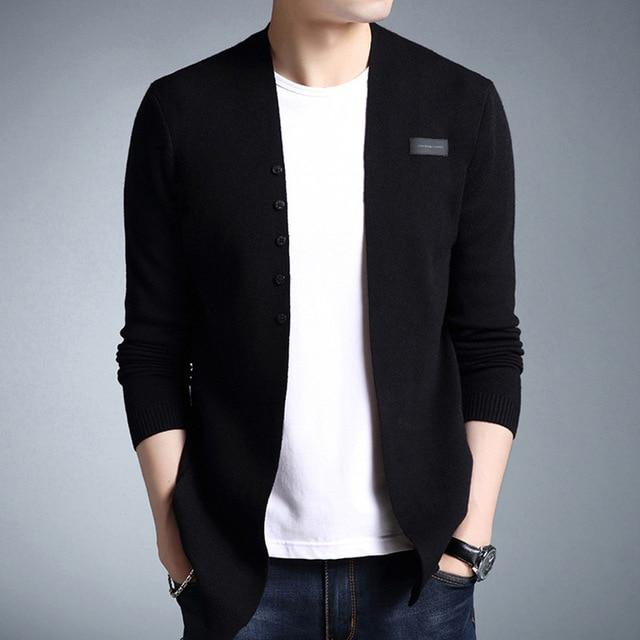 The V Cardigan - Black / XS - HIS.BOUTIQUE