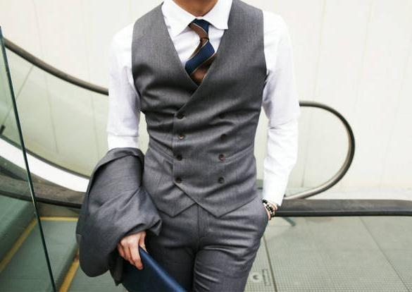 British Style Slim Double Breasted Waistcoat - Gray / XS - HIS.BOUTIQUE